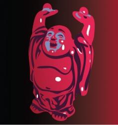 smiling Buddha vector image