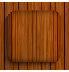 wooden app Eps10 vector image