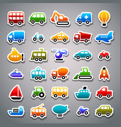 Transportation sticker icons vector