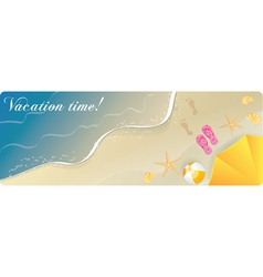 summer banner sea vector image