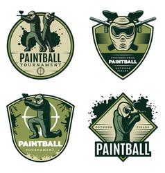 Colorful vintage active leisure emblems set vector