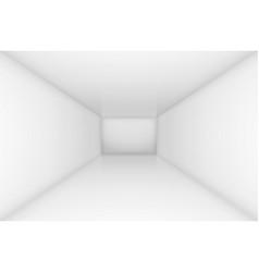 White simple empty room interior for design vector