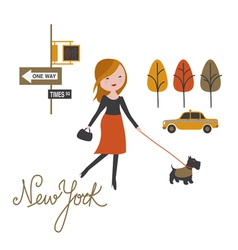 Walk around nyc vector