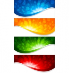abstract collection of banners vector image