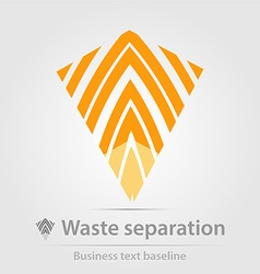 Waste separation business icon vector