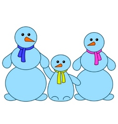 Snowballs family vector