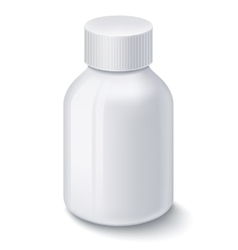 Medicine white plastic bottle for pills vector