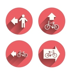 Pedestrian road icon bicycle path trail sign vector