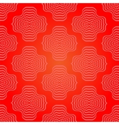 Abstract red geometric retro pattern vector