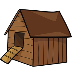 Cartoon of farm hen house vector