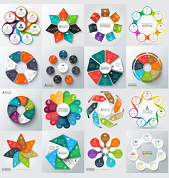 Big set elements for infographic vector