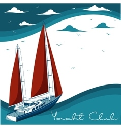 Yacht club vector