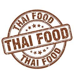 thai food brown grunge round vintage rubber stamp vector image