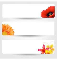 Banners with flowers vector