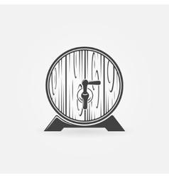 Beer wooden barrel logo or icon vector image