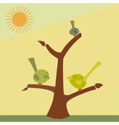 bird on a tree branch vector image