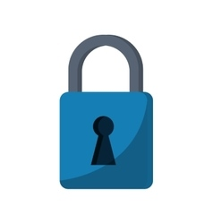 blue padlock lock secure digital vector image vector image