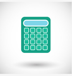 calculator flat icon vector image