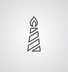 Candle outline symbol dark on white background vector