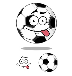 Cartoon soccer or football ball vector image