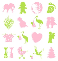 Children themed items vector