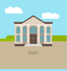 colored bank building vector image vector image