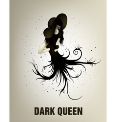 dark girl with abstract lines vector image vector image