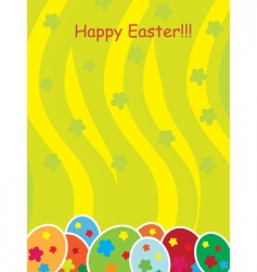 Easter eggs template vector image