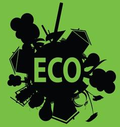eco in black vector image vector image