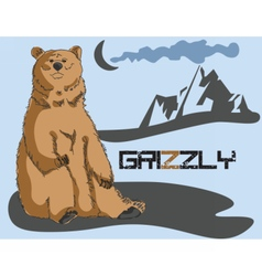Grizzly bear background vector