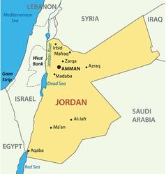 Hashemite kingdom of jordan - map vector