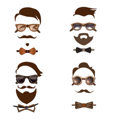 Hipster outfit combinations set vector