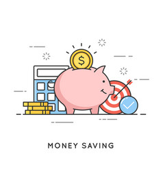 money saving deposit investment budget vector image vector image