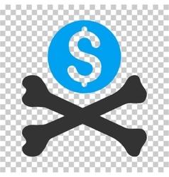 Mortal debt icon vector