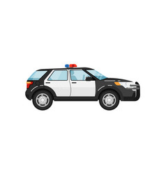 Police suv car isolated vector