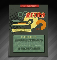 Retro brochure design vector
