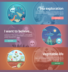 sea exploration science of life natural science vector image