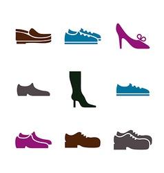Shoe icon vector