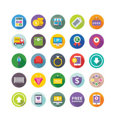 Shopping and commerce icons 3 vector