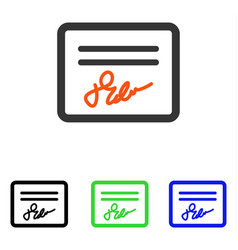 Signed page flat icon vector