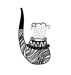 smoking pipe hand drawn vector image