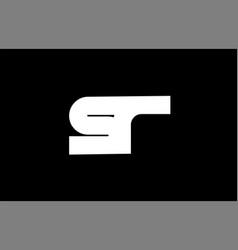 sr s r black white bold joint letter logo vector image vector image