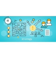 Strategy business background vector