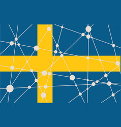 Sweden flag concept vector