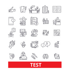 Test examexamination quiz assessment vector