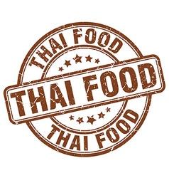 Thai food brown grunge round vintage rubber stamp vector