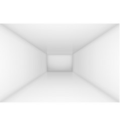 white simple empty room interior for design vector image