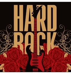 electric guitar among roses vector image