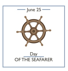 Day of the Seafarer vector image