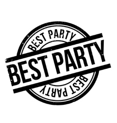 Best Party rubber stamp vector image